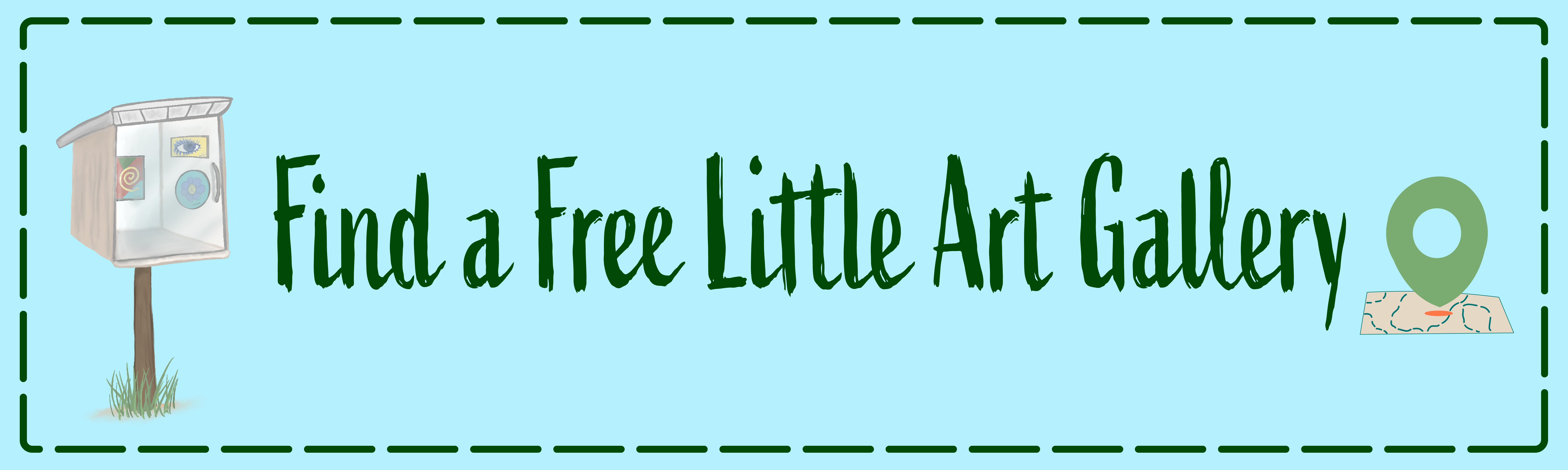 Find a Free Little Art Gallery website header image.